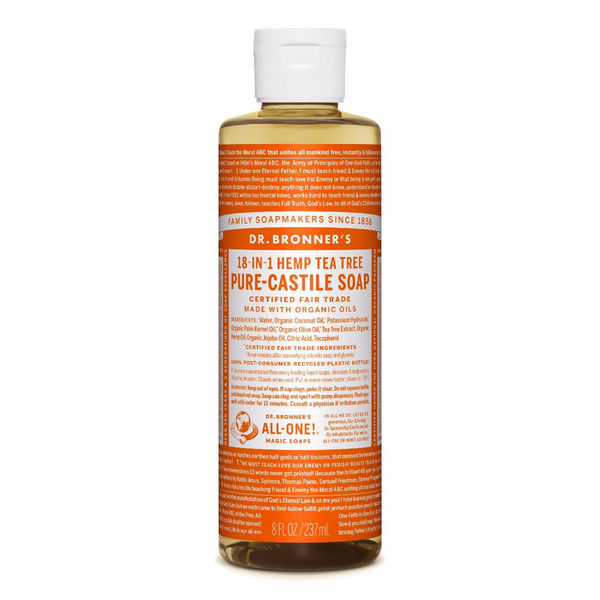 Dr. Bronner's Tea Tree Pure-Castile Liquid Soap - 237ml, 946ml
