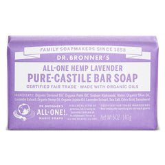 Dr. Bronner's All-One Lavender Pure-Castile Bar Soap - 140g