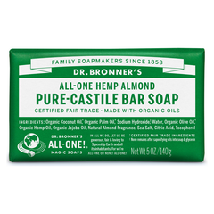 Dr. Bronner's Almond Pure-Castile Bar Soap - 140g