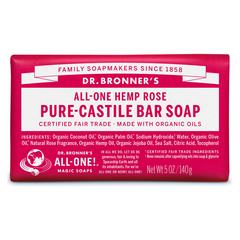 Dr. Bronner's Rose Pure-Castile Bar Soap - 140g