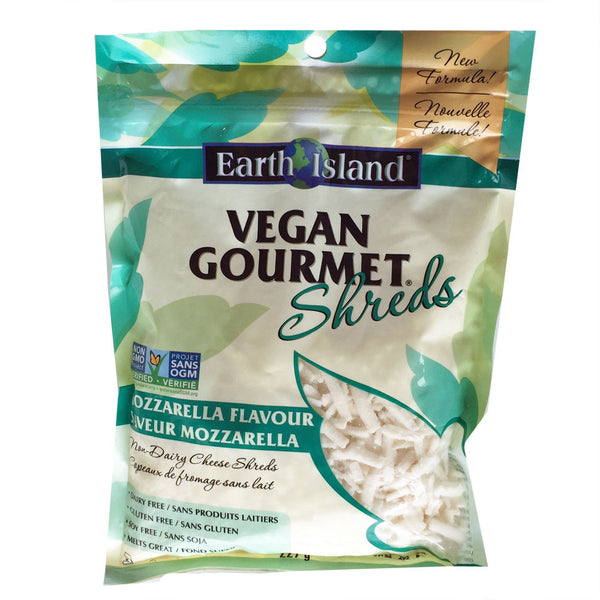 Earth Island Vegan Gourmet Mozzarella Shreds - 227g