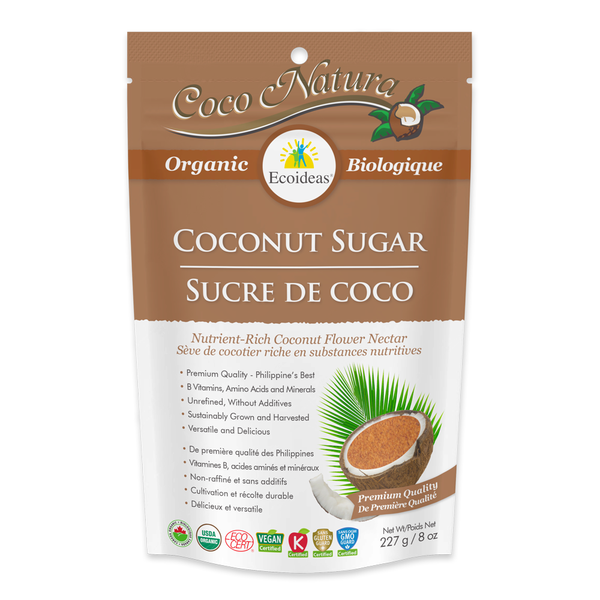 Ecoideas Coco Natura Organic Coconut Sugar - Multiple Sizes