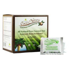Ecoideas Coco Natura All Natural Pure Coconut Sap Coconut Sweetener - 50 Packets