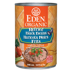 Eden Organic Refried Black Beans - 398ml