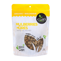 Elan Organic White Mulberries - 125g