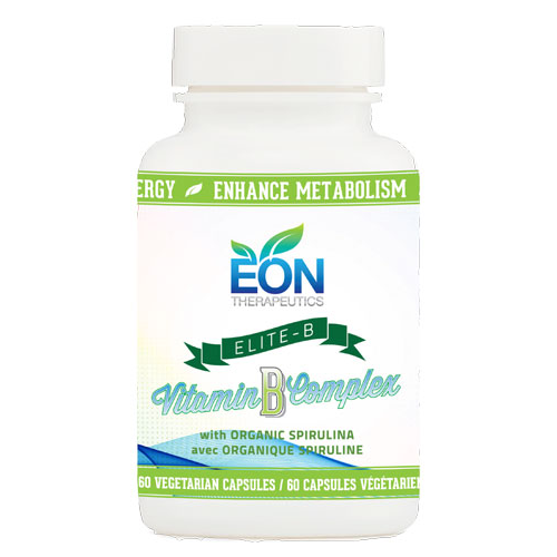 Eon Therapeutics Elite-B Vitamin B Complex with Organic Spirulina - 60 Capsules