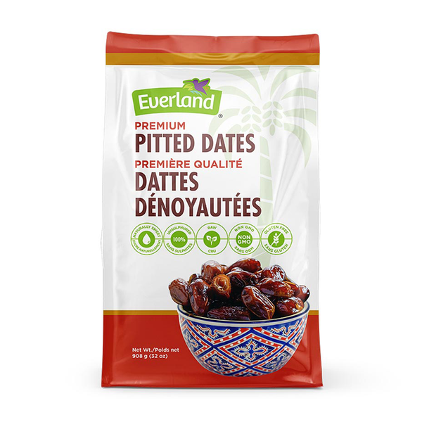 Everland Whole Pitted Dates - 908g