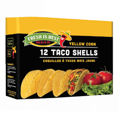 Fresh Is Best Salsa & Co Yellow Corn Taco Shells - 156g