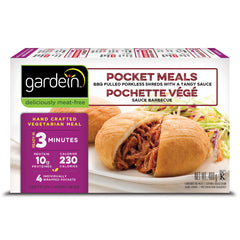 Gardein BBQ Pulled Porkless Pocket Meal - 400g