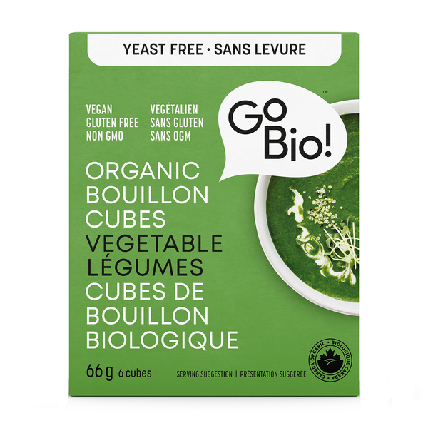 GoBio! Yeast-Free Vegetable Bouillon Cubes - 66g