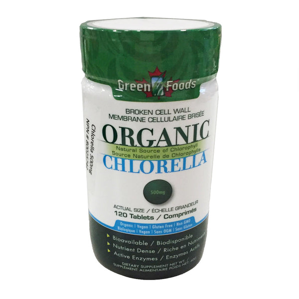 Green Foods Organic Chlorella - 500mg tablets