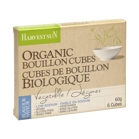 Harvest Sun Organic Low Sodium Vegetable Bouillon Cubes - 60g