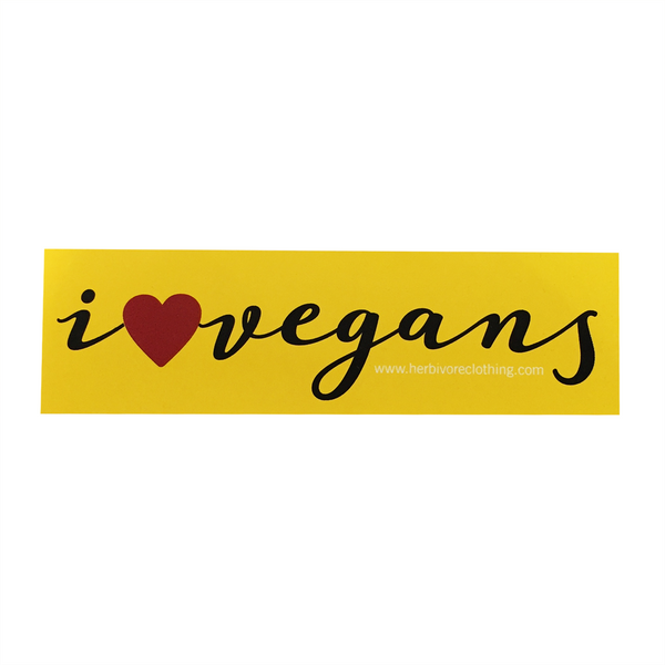 Herbivore 'I Heart Vegans' Sticker