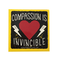 Herbivore 'Compassion Is Invincible' Sticker