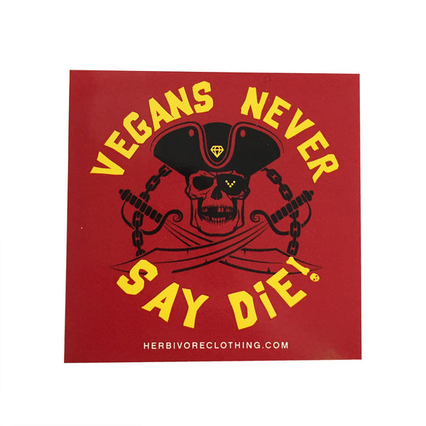 Herbivore 'Vegans Never Say Die' Sticker