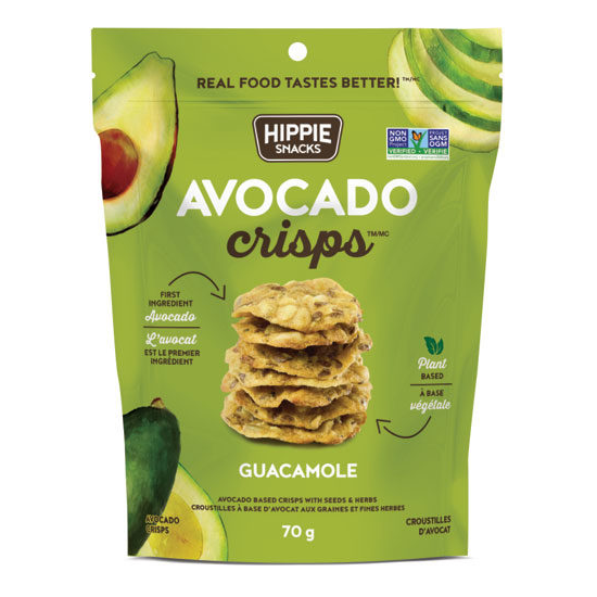 Hippie Snacks Guacamole Avocado Crisps - 70g