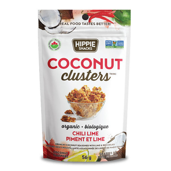 Hippie Snacks Chili Lime Coconut Clusters - 56g