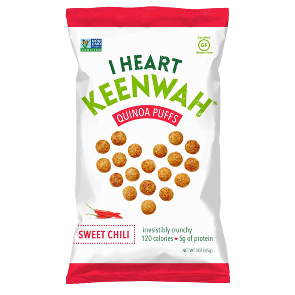 I Heart Keenwah Sweet Chili Quinoa Puffs - 85g