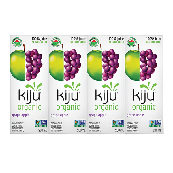 Kiju Organic Grape Apple Juice Boxes - 4x200ml