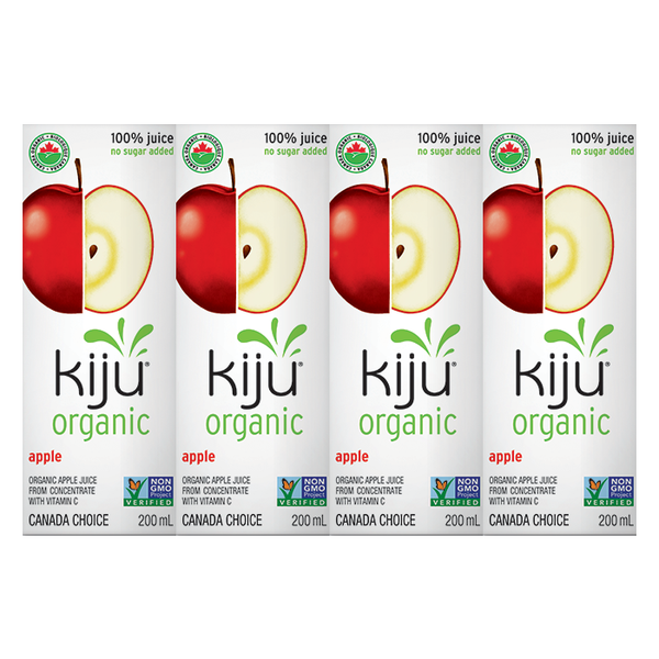 Kiju Organic Apple Juice Boxes - 4x200ml