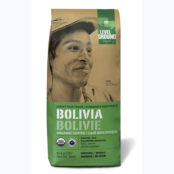Level Ground Bolivia Medium Roast (Ground) - 1lb