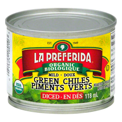 La Preferida Organic Diced Mild Green Chiles - 118ml