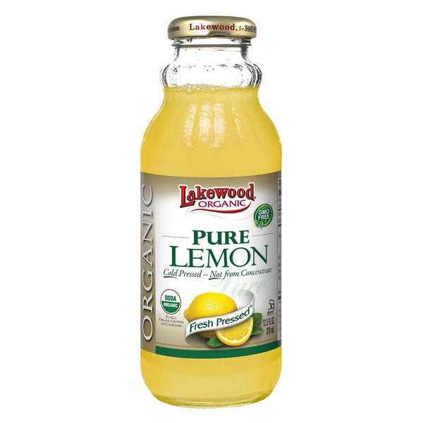 Lakewood Organic Pure Lemon Juice - 370ml