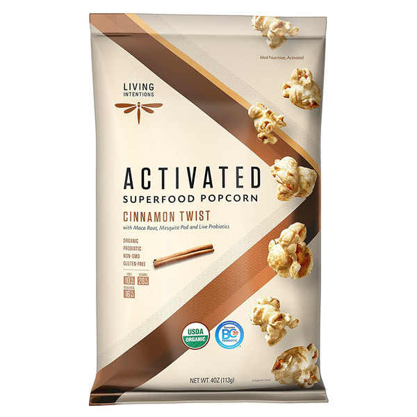 Living Intentions Superfood Cinnamon Twist Popcorn - 113g