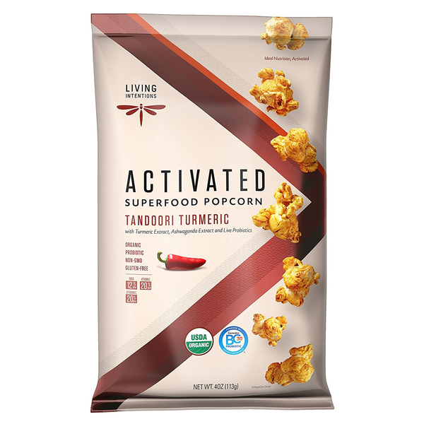 Living Intentions Superfood Tandoori Turmeric Popcorn - 113g