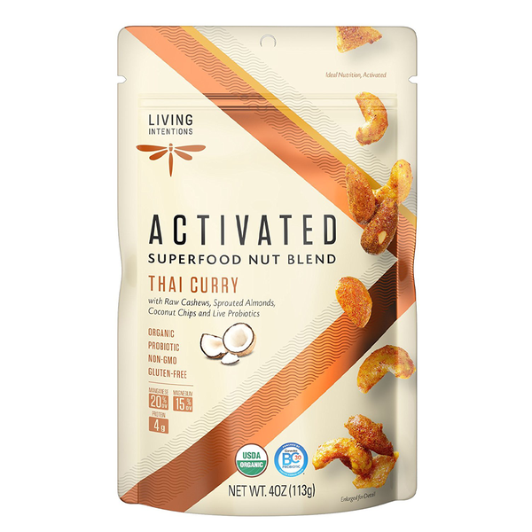 Living Intentions Activated Superfood Thai Curry Nut Blend - 113g