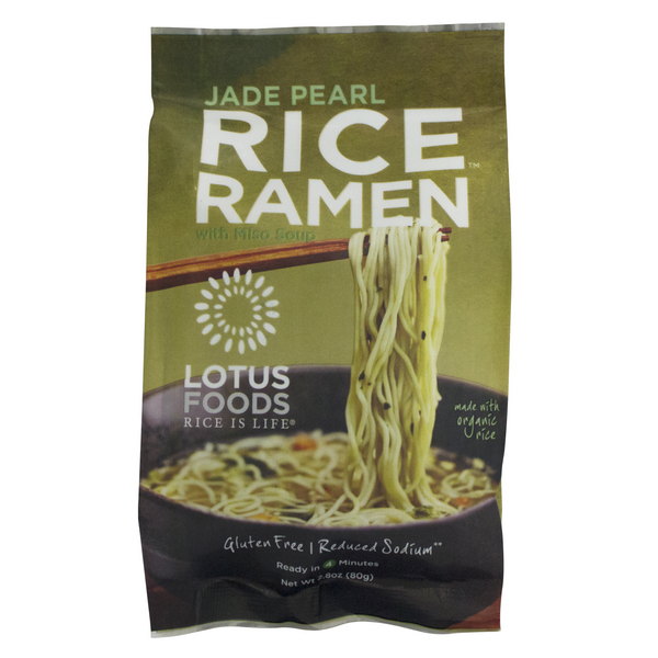 Lotus Foods Jade Pearl Ramen with Miso Soup - 80g