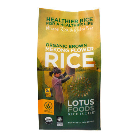 Lotus Foods Organic Brown Mekong Flower Rice - 426g