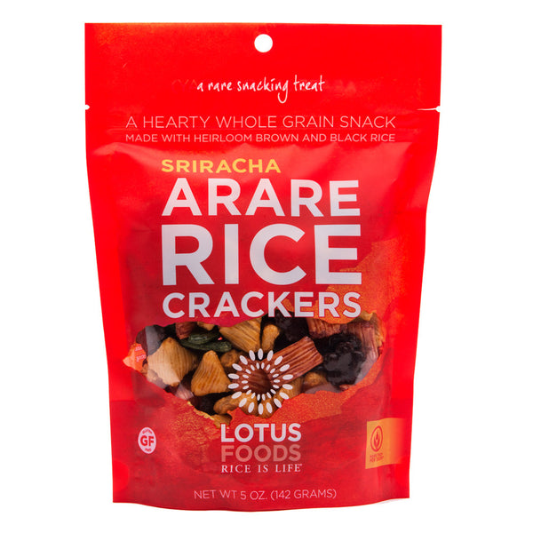 Lotus Foods Sriracha Arare Rice Crackers - 142g