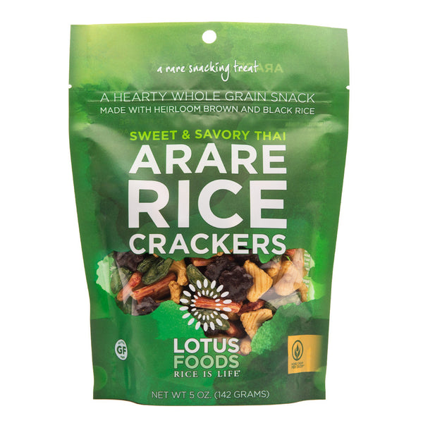 Lotus Foods Sweet & Savory Thai Arare Rice Crackers - 142g