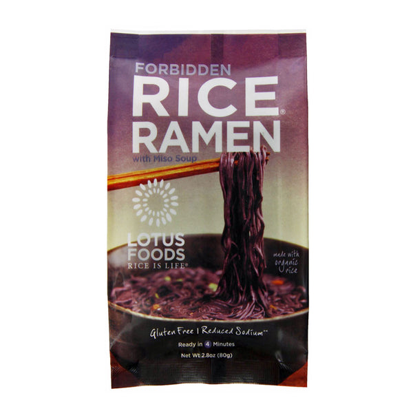Lotus Foods Forbidden Rice® Ramen with Miso Soup - 80g