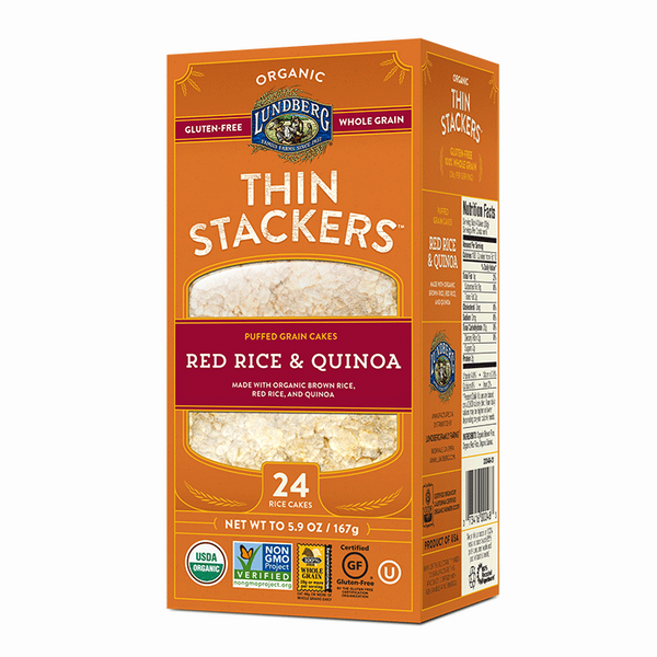 Lundberg Red Rice & Quinoa Thin Stackers Rice Cakes - 167g