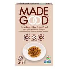MadeGood Cocoa Rice Crisp Cereal - 284g