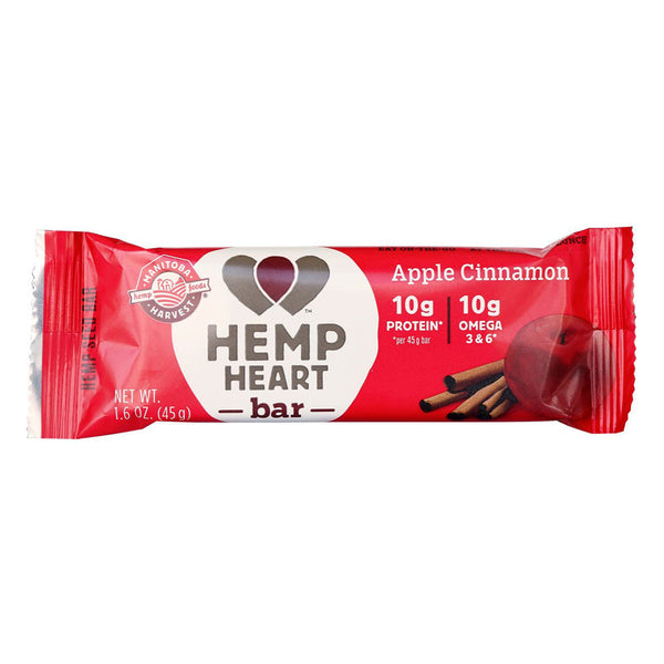 Manitoba Harvest Apple Cinnamon Hemp Heart Bar - 45g
