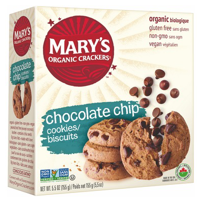 Mary's Organic Crackers Chocolate Chip Cookies - 155g