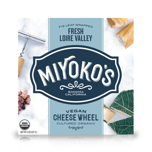 Miyoko's Creamery Fresh Loire Valley in a Fig Leaf Cheese - 184g