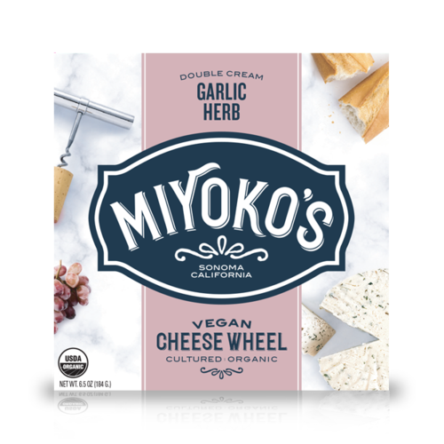 Miyoko's Creamery Double Cream Garlic Herb Cheese - 184g