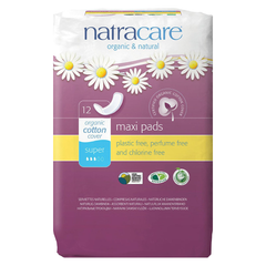 Natracare Super Maxi Pads - 12 Pads