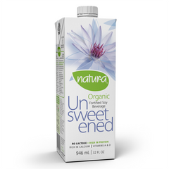 Natur-a Organic Unsweetened Soy Beverage - 946ml