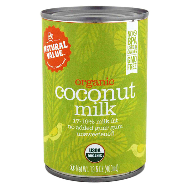 Natural Value Organic Coconut Milk - 400ml