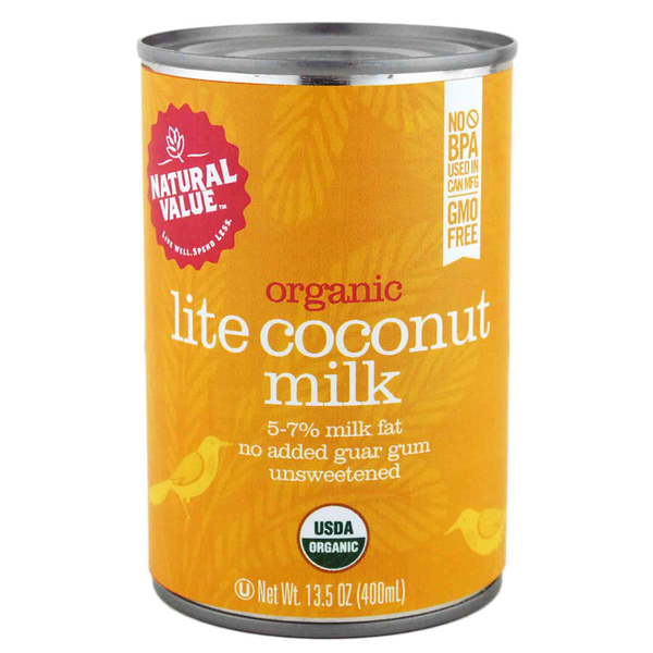 Natural Value Organic Lite Coconut Milk - 400ml