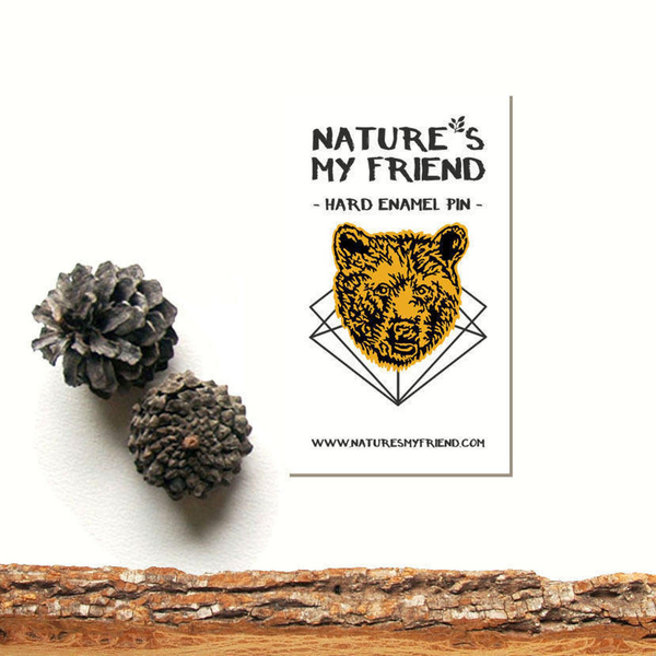 Nature's My Friend 'Bear' Enamel Pin