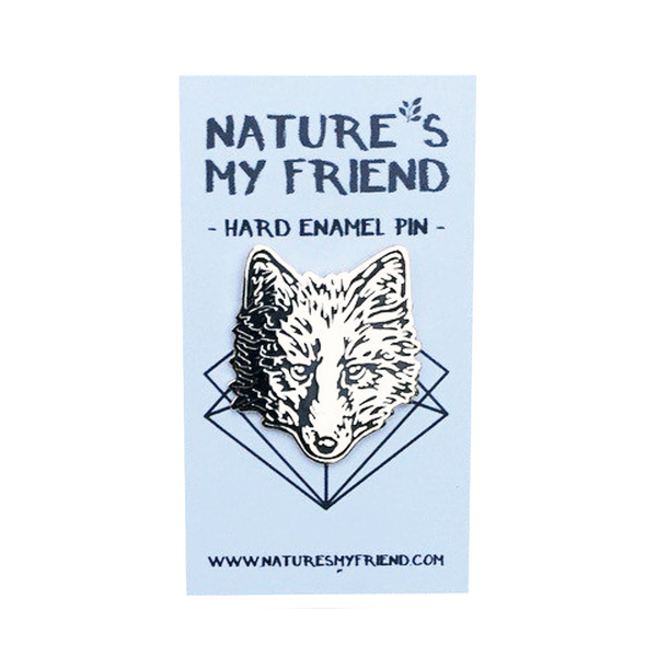 Nature's My Friend 'Wolf' Enamel Pin