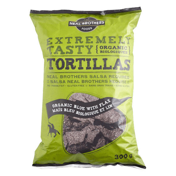 Neal Brothers Foods Organic Blue Corn Tortilla Chips With Flax - 300g