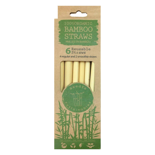 Needya Sustainables Organic Mixed Bamboo Straws - 2 + 4-Pack