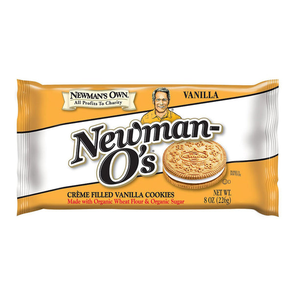 Newman's Own Newman-O's Crème Filled Vanilla Cookies - 226g